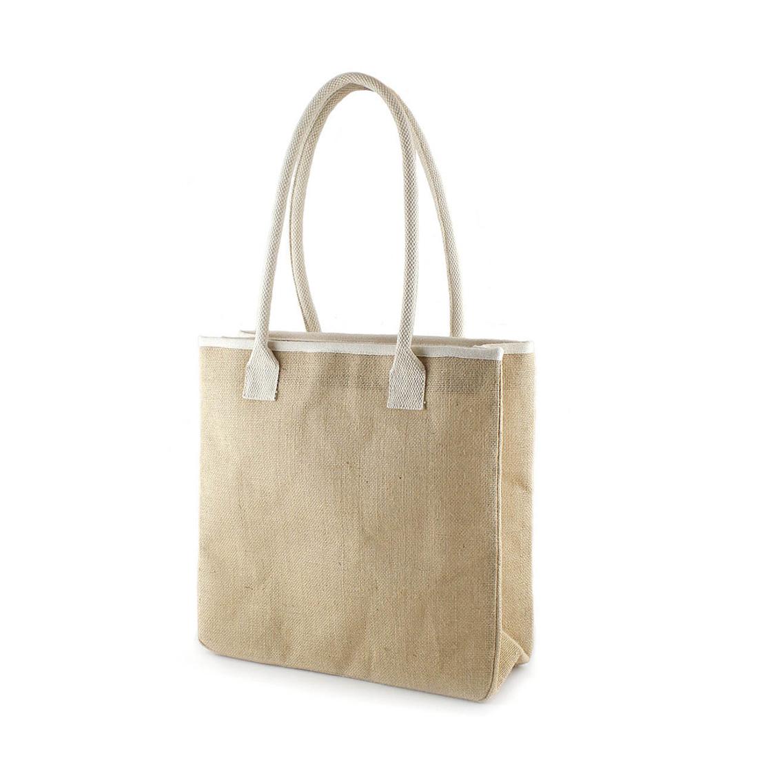 sac cabas azur en toile de jute personnaliser. Black Bedroom Furniture Sets. Home Design Ideas