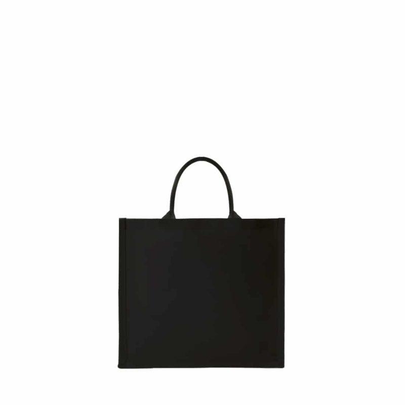 sac cabas noir en coton épais à personnaliser