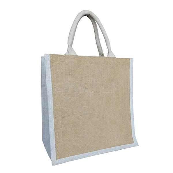 Petit sac cabas en toile de jute