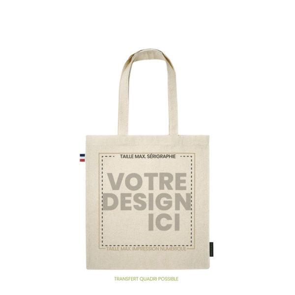Personnalisation tote bag Made in France en coton bio