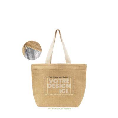 sac glacière vexin toile de jute