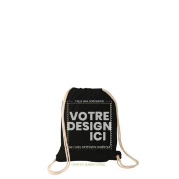 sac a dos forez noir marquage