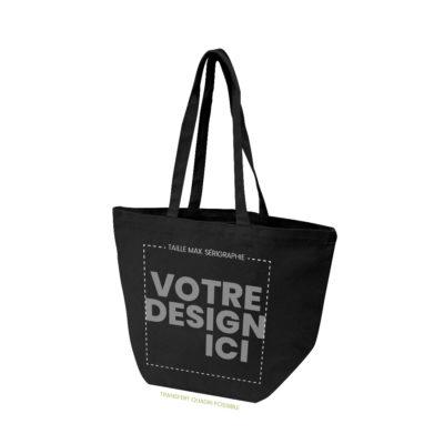 sac de plage doubs noir marquage