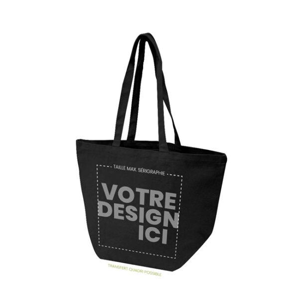 Personnalisation sac de plage noir en coton
