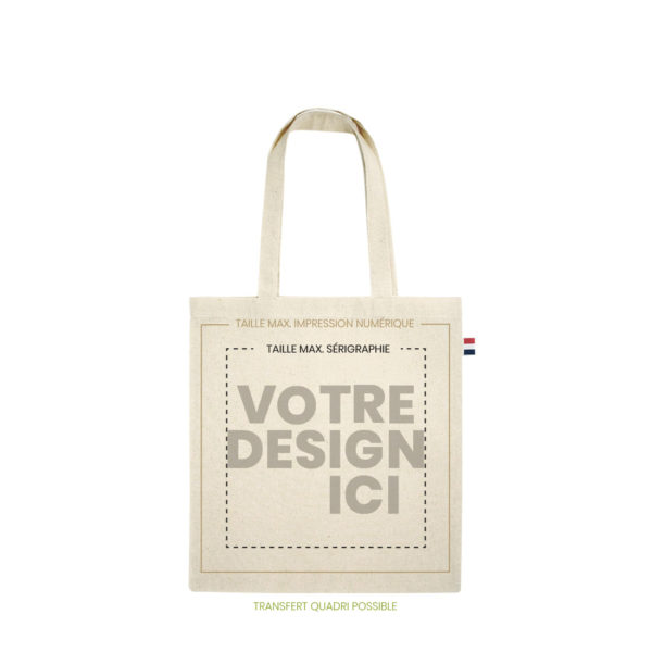 tote bag bio made in france 150gr marquage