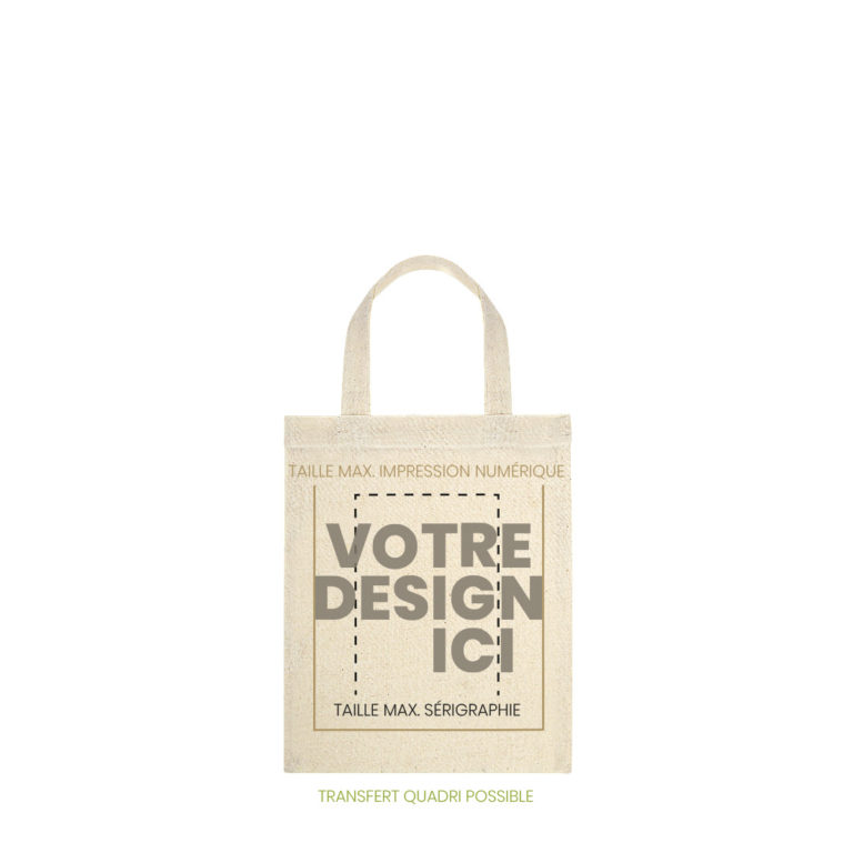 mini tote bag armorique marquage
