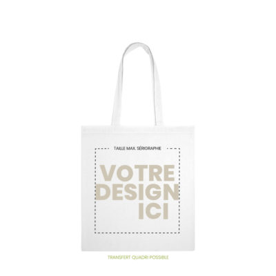 tote bag chartreuse marquage