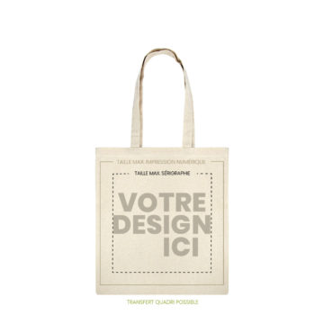 tote bag pilat naturel marquage
