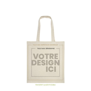 Tote bag vercors naturel marquage