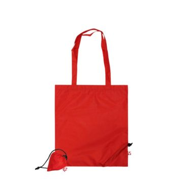 Sac shopping rouge avec pochette en PET Recyclé
