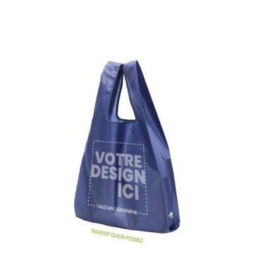Personnalisation sac shopping bleu en PET Recyclé
